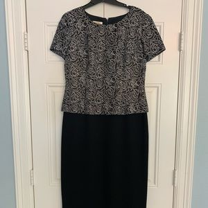 Talbots Formal Floral Pattern Dress Sz 10